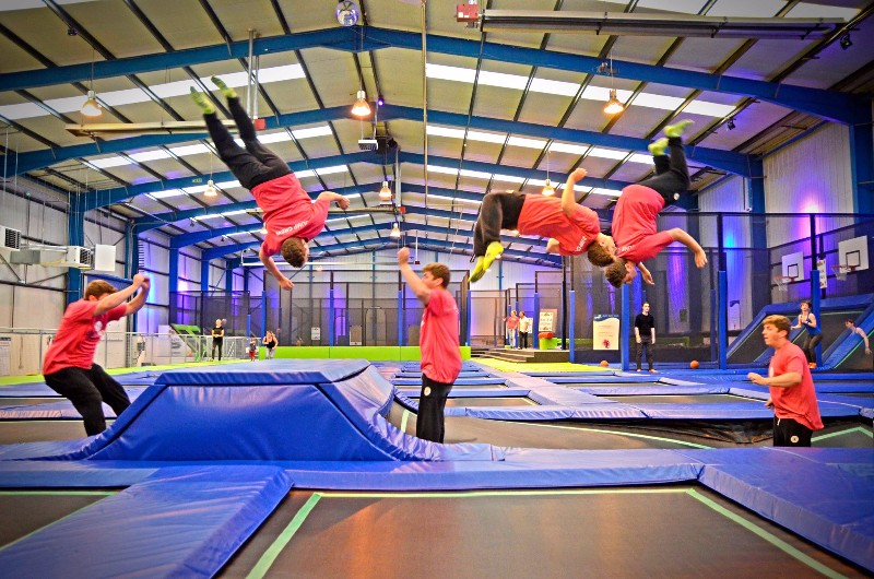 jump in trampoline arena shropshire tourism leisure guide